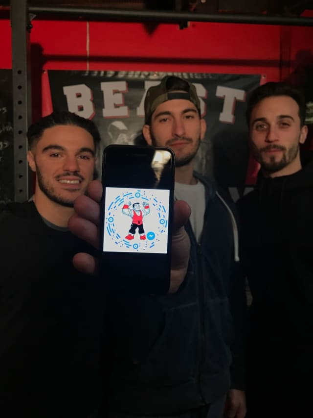Hawthorne friends Angelo Guarnieri, Frank Petruccelli and Eric VanTine are the masterminds behind Gymi, a fitness chatbot on Facebook Messenger.