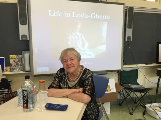 Dr. Salomea Kape, a Holocaust survivor, lives in Larchmont.