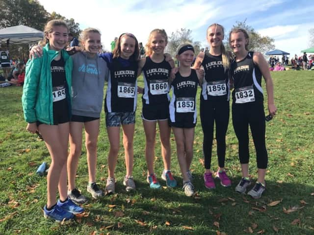 The Roger Ludlowe Middle School girls cross country team placed second in state competition, the school's best finish ever.