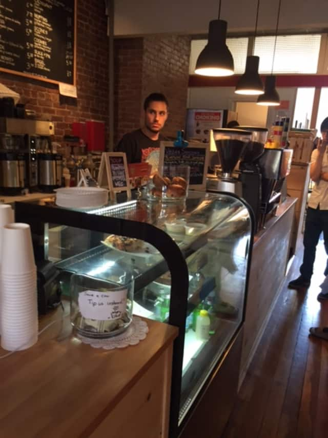 Muddy Water serves Big Bang Coffee, a local roaster from Peekskill whose beans are organic.