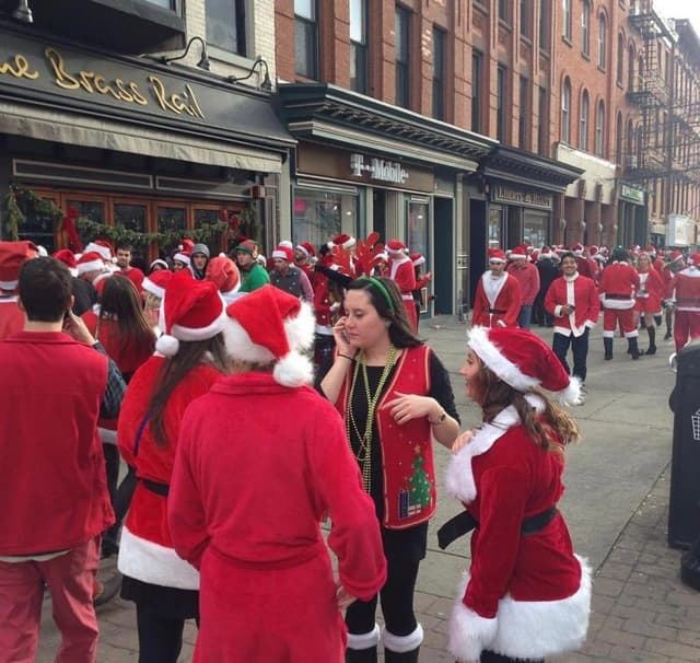 SantaCon in Hoboken