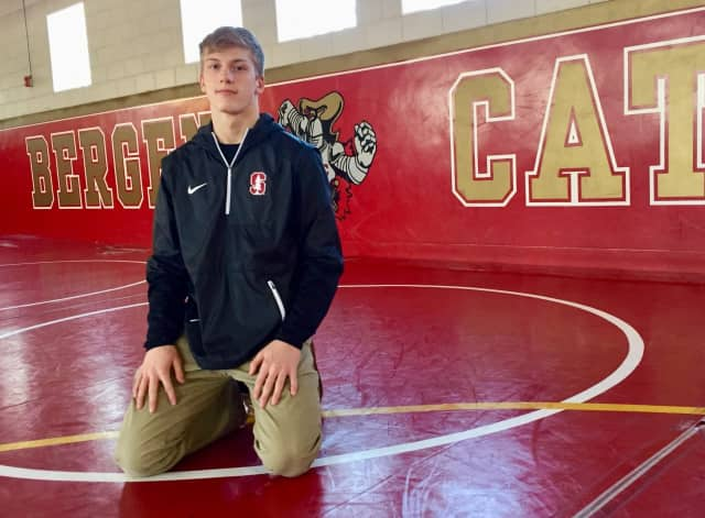 Bergen Catholic junior and Stanford commit Shane Griffith took his first victory against Francis Marshall of Manasquan at the NJSIAA Tournament of Champions Friday.