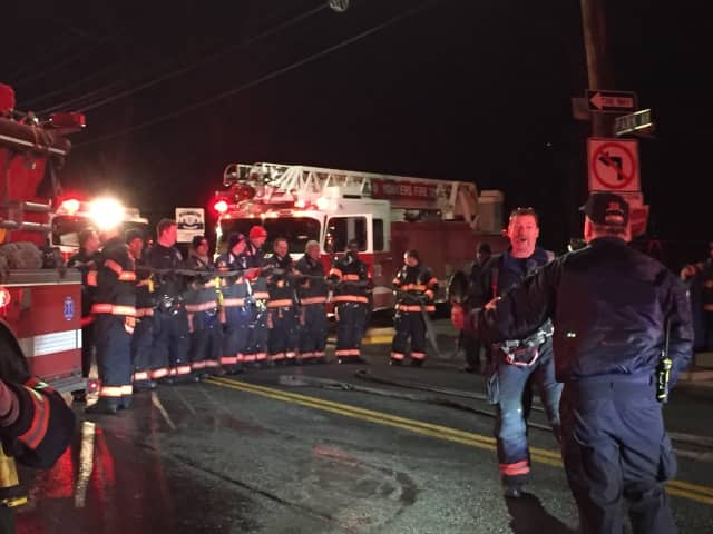 Firefighters on the scene early Wednesday morning at 44 Park Ave.