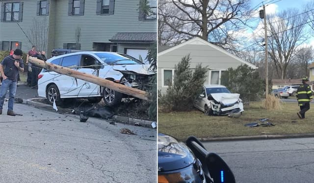Aftermath of Saturday's crash on Sullivan and Sanford in Emerson.