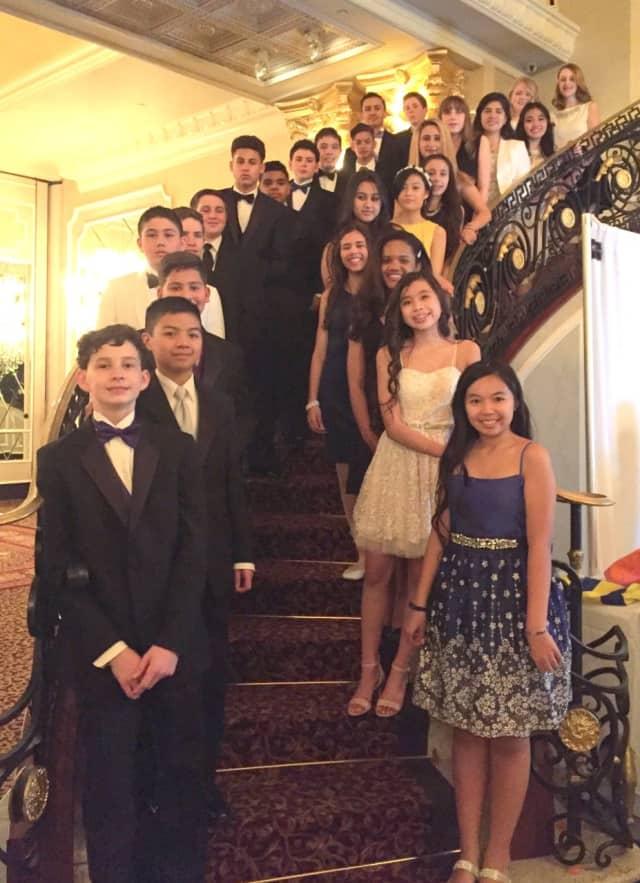 Paramus' Visitation Academy students attend spring gala.