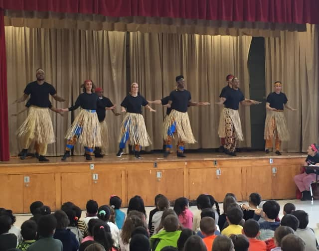 Students at George Washington Elementary School were treated to a Black History Month performance.