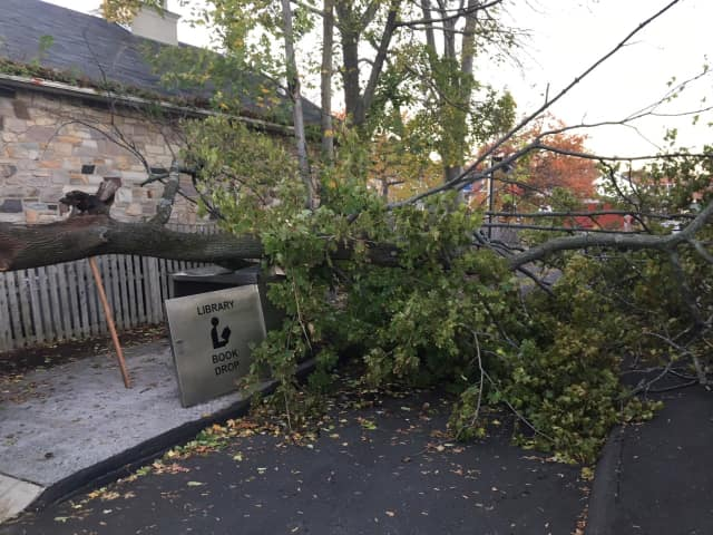 Thousands remain without power in the Hudson Valley a day after a Nor'easter packing torrential rains and gusty winds that brought down trees moved up the East Coast.