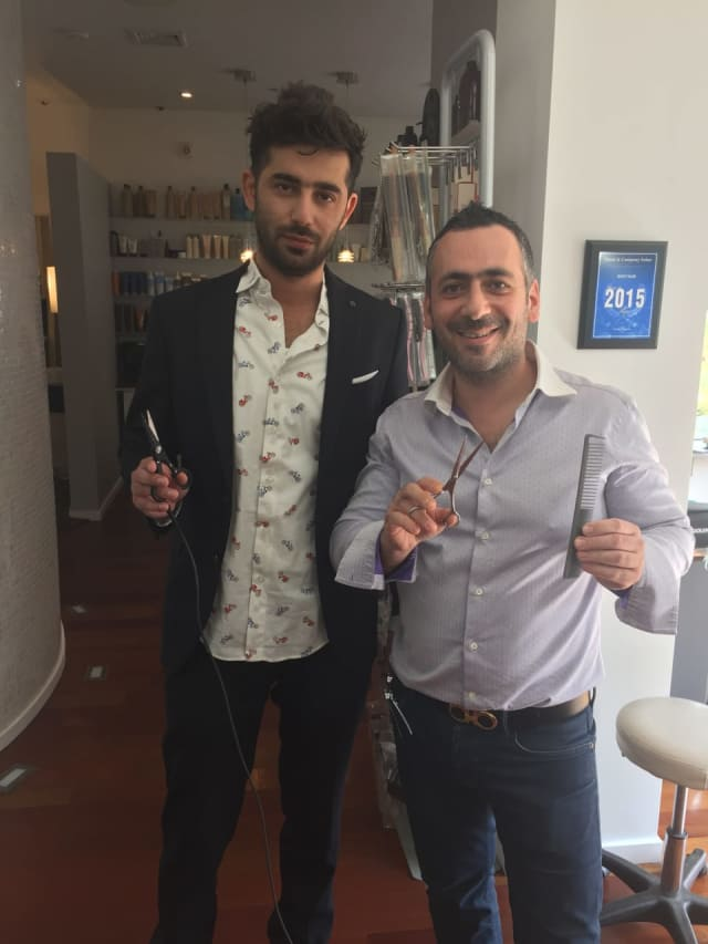Igor Musayev, left and Nuriel Abramov, right of NUMI Nuriel Abramov Salon in Rye.