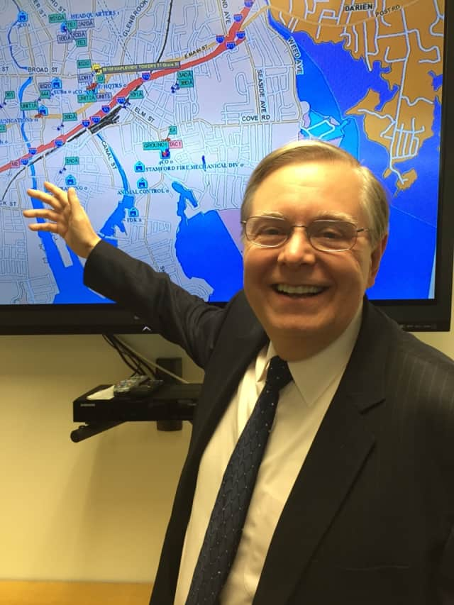 Stamford Mayor David Martin unveiled a new 911 dispatch system Wednesday afternoon.