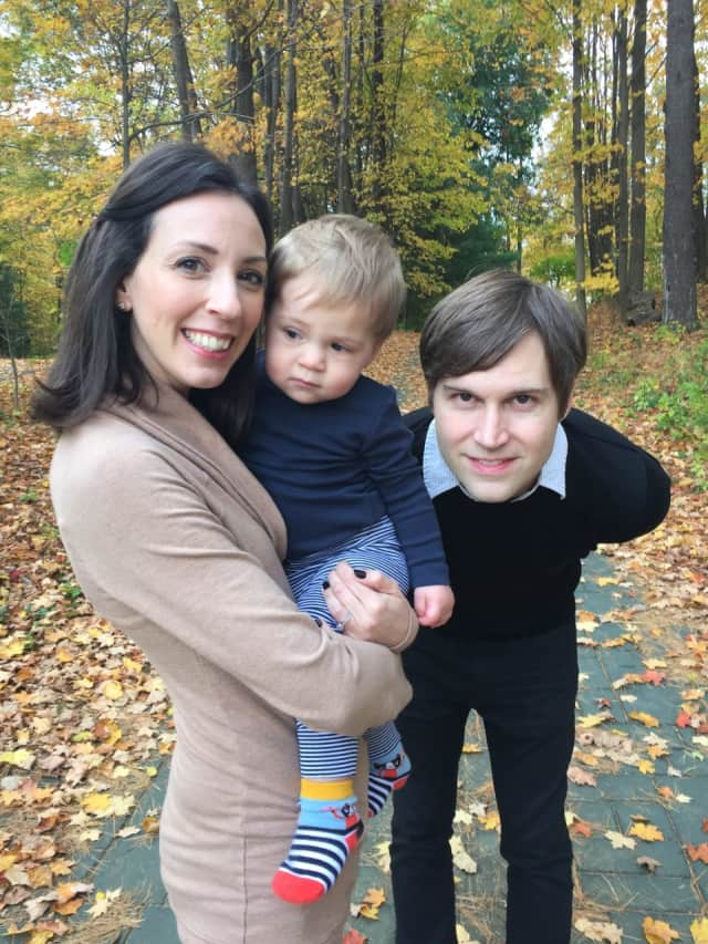 Nina Isabella and Shawn Christensen with their son, the inspiration behind Nina's Nursery Boxes.