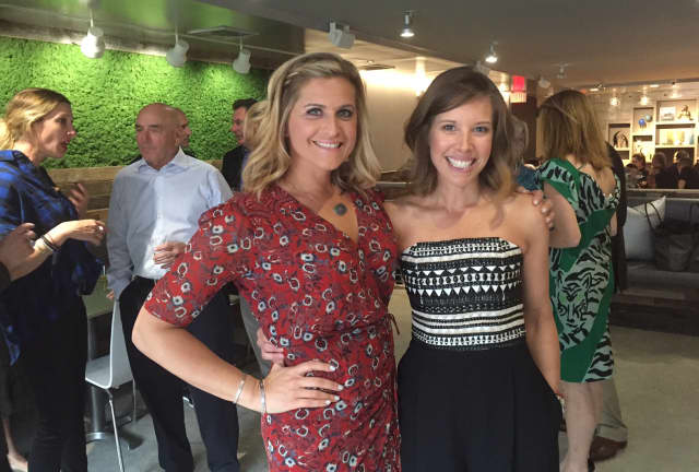 The Granola Bar's Julie Mountain and Dana Noorily, Westport residents, at the opening of their Greenwich location.