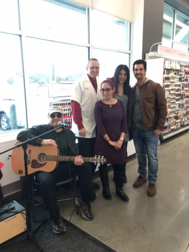 Steve Goodstein performs at Walgreen's as part of Make Music Day in Ossining.