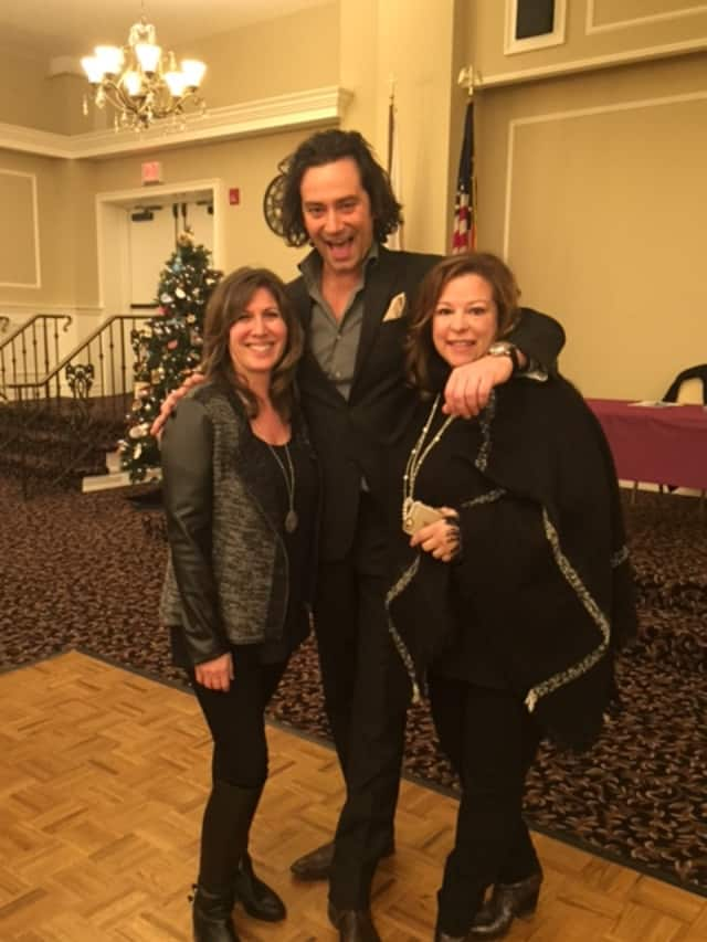 Lisa Powers and Phyllis Guinan, co-chairs of the event with Constantine Maroulis.