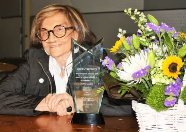 Dr. Saloma (Sally) B. Grose received Norwalk ACTS' first Visionary Award.
