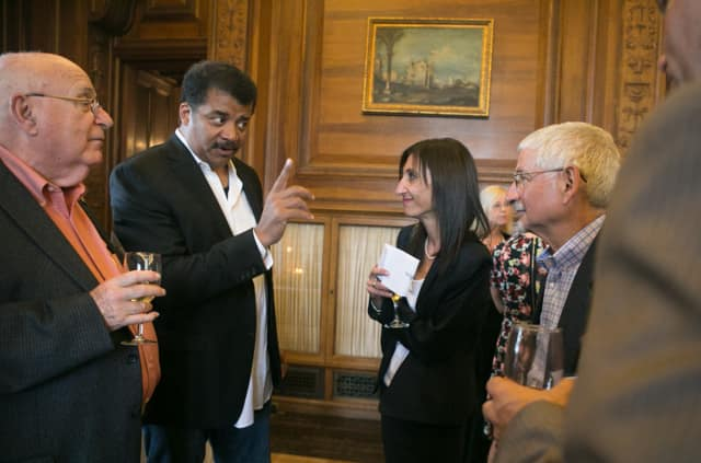 Neil deGrasse Tyson speaks at Manhattanville College.
