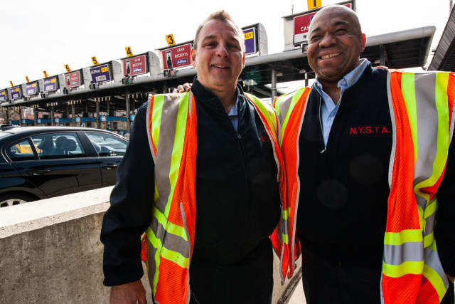 These Tappan Zee Bridge toll-takers will be replaced with a cashless tolling system goes into effect.