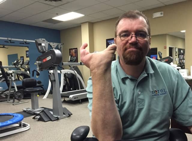 Christian Gartner in his Maywood's Total Physical Therapy.