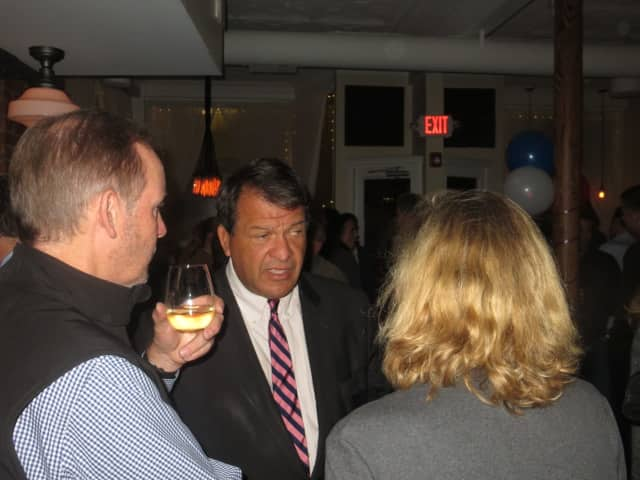 "Westchester County Executive George Latimer thanking campaign supporters during a November ""election celebration"" party in his hometown of Rye. The race to fill his vacant state Senate seat is attracting national attention."