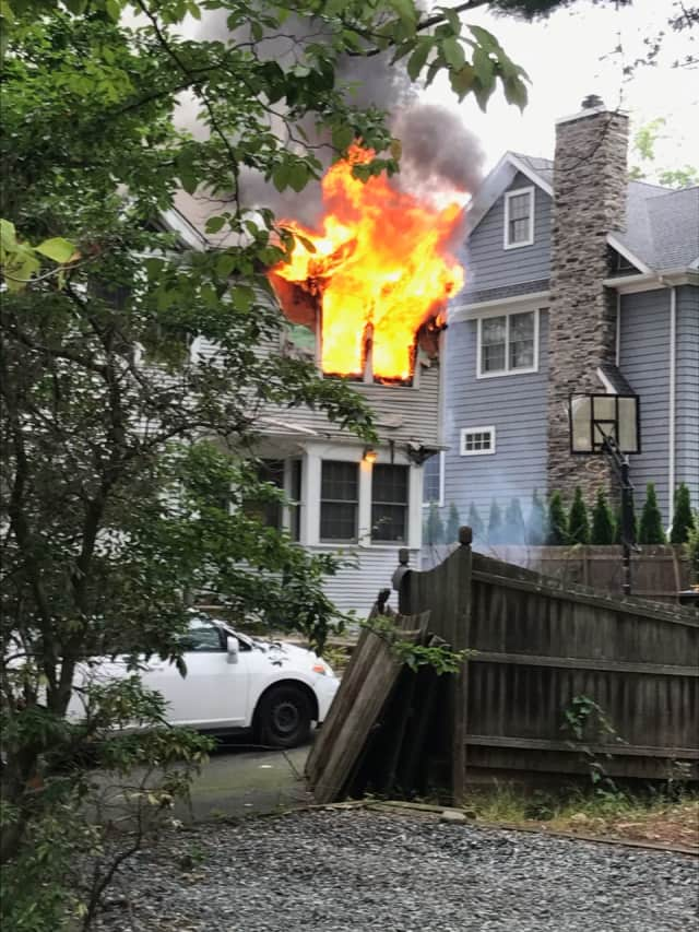 A second-alarm fire left a Teaneck home uninhabitable Wednesday, authorities said.