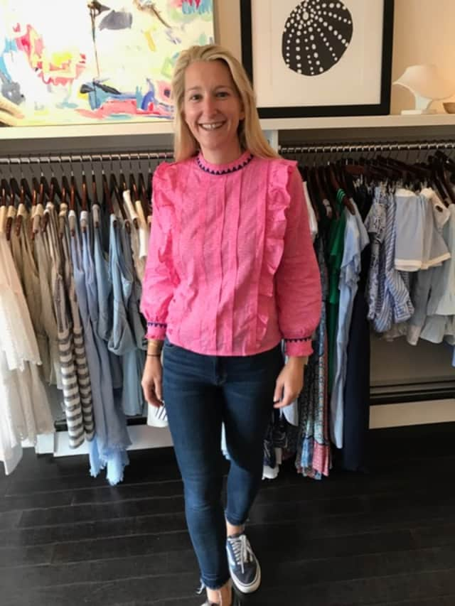 Darien resident Lindsay Westbrook, Spree owner, sells a lot of tops and jeans.