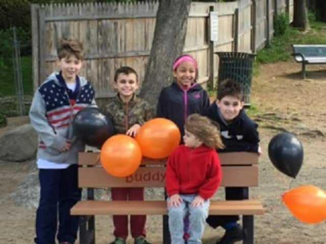 Students at Cottle Elementary School have a new Buddy Bench that serves as a place to sit for anyone looking for a playmate.