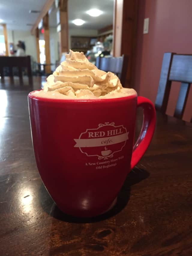 Hot chocolate at Red Hill Cafe in New City.