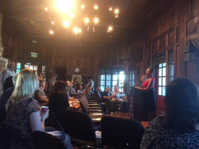 The Sleepy Hollow Tarrytown Chamber of Commerce met at the Hudson Valley Writers Center this month.