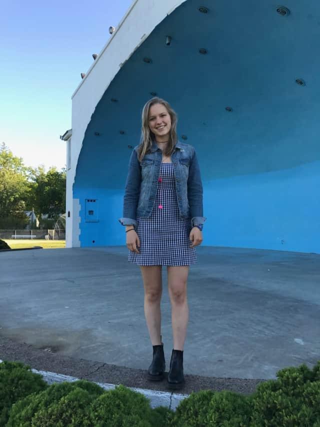 Sophia Swanson at the Kasschau Memorial Bandshell in Ridgewood.