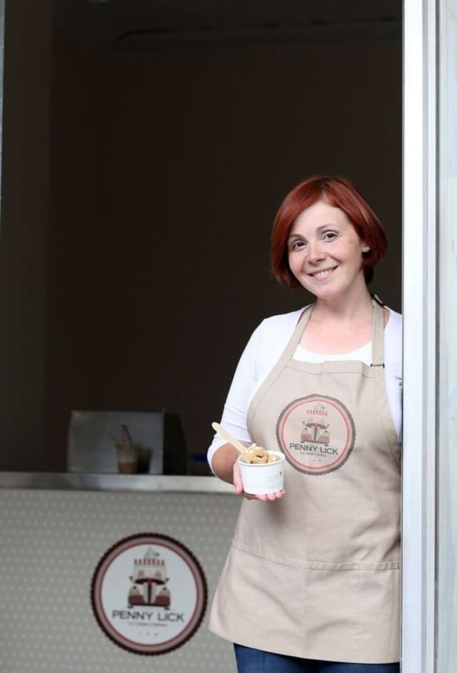 Ellen Sledge's new ice cream shoppe, Penny Lick, will have its grand opening Saturday.