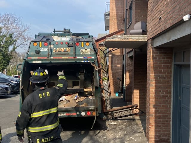 No one was injured in the mishap on Heights Road in Ridgewood.