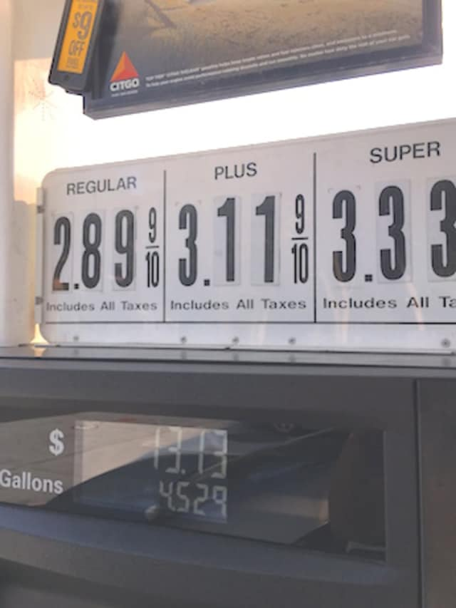 The price of $2.89 per gallon is just 2 cents more than the state's average price in September.