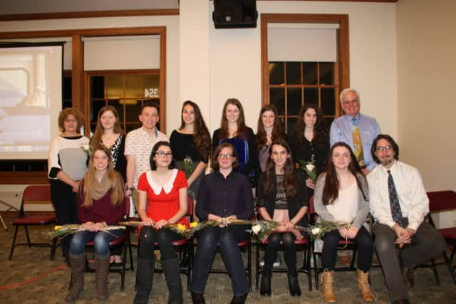 The newest inductees to Pleasantville High School's chapter of the National Art Honor Society.