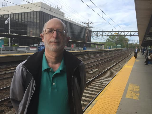 Norm Horwitz at the Greenwich train station on Wednesday. He needed three trains to get from his New Haven home to work in New Rochelle on Wednesday because of the reduced train service after a fire in New York City.