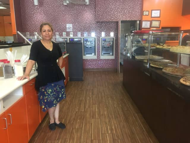 Hanna Mendez recently took over Pizzalicious in Teaneck, where she added Berrylicious, a frozen yogurt section, on Cedar Lane.