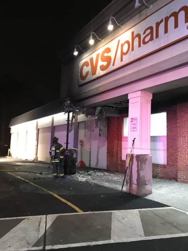 trashcan fire ignited by cigarette shuts leonia cvs teaneck daily