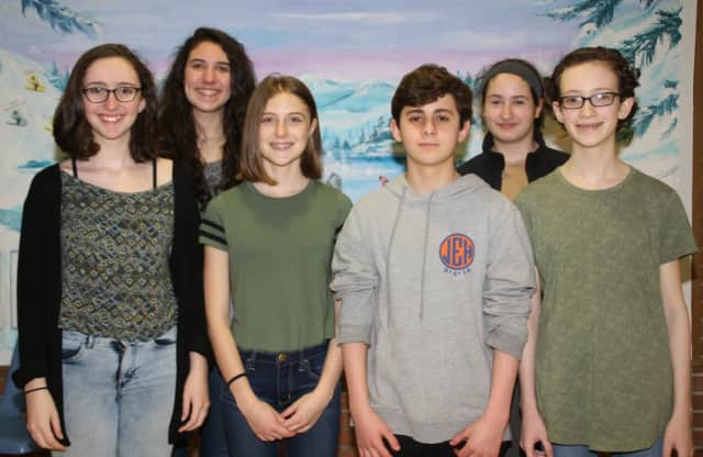 The winners, and runners up, in Pleasantville Middle School's annual writing contest.