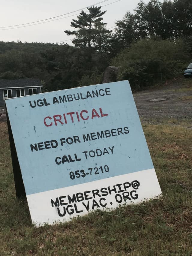 There is a need for membership at the Upper Greenwood Lake Volunteer Ambulance Corps.