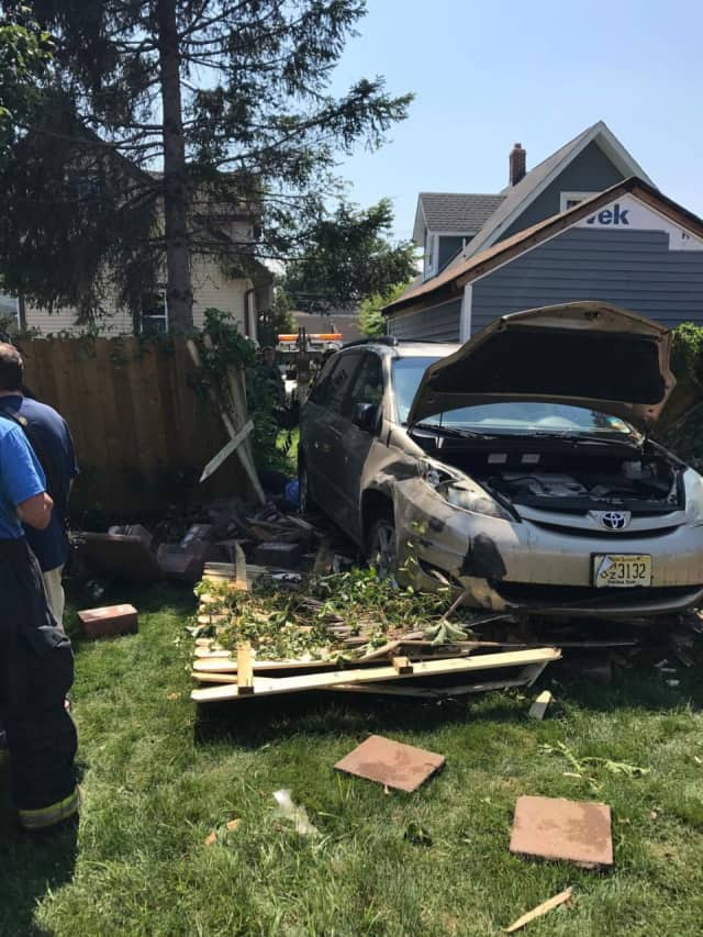 One person was injured in a Maywood crash.