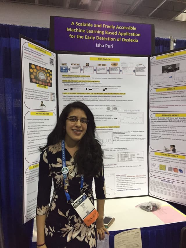 Horace Greeley High School senior Isha Puri, 2019 Neuroscience Research Award finalist