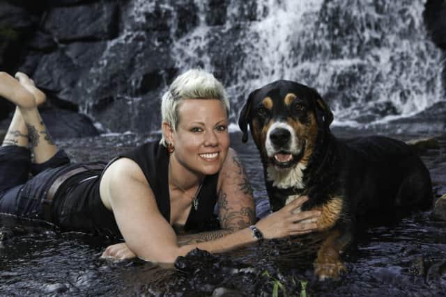 Meghan Haarmann of Ringwood with her dog, Tonka.
