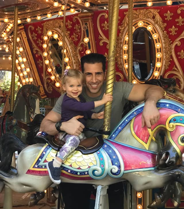 Giovanni Roselli with his adored and adoring Juliet, age 2. Courtesy the author.