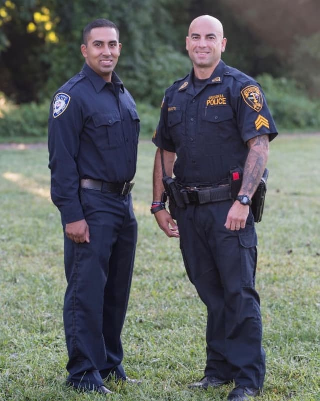 Port Authority Police Officer Sam Sukool (left) and Cresskill Detective Sergeant Jason Lanzilotti will be running in the NYC Marathon in November. They are using the race as a platform to raise money for Mayday Missions.