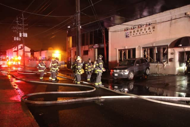 The fire broke out early Monday morning in Hackensack.