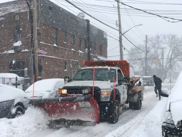 The only vehicles allowed on area roads are snow plows and emergency vehicles, state officials said.