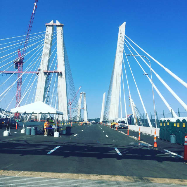 The Rockland-bound lanes on the new Tappan Zee Bridge will open Friday night as scheduled.