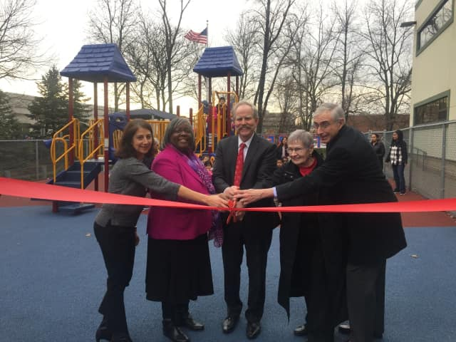 Two playgrounds will be resurfaced at the Turrell Child Care and Early Learning Center in Paramus.