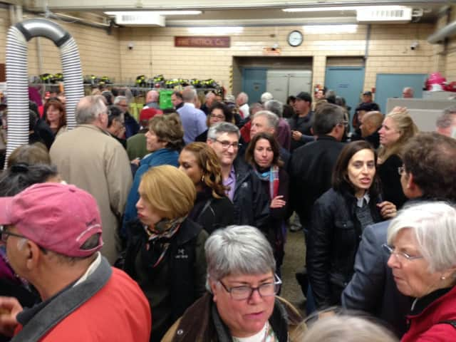 Long lines were reported at Tuesday's referendum on the proposed Chappaqua firehouse expansion, which was rejected by voters.