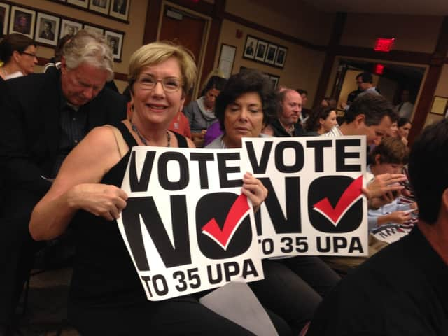 Ridgewood residents turned out in the hundreds Wednesday night to encourage the council to vote no on a proposal that would allow multi-family apartment buildings.