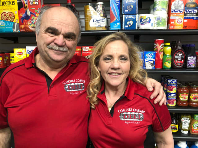 Ted and Kathy Tabasco of Coaches Corner Deli in Ridgefield Park.