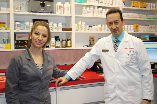 Yanet Nacer and Dwight Montfort of Fairview Pharmacy.